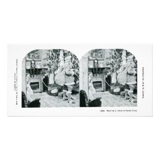 Christmas Stereoview - Vintage Card