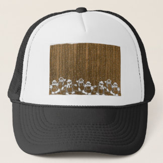 Christmas stick drawing trucker hat