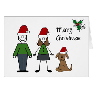 Christmas Stick Figures card