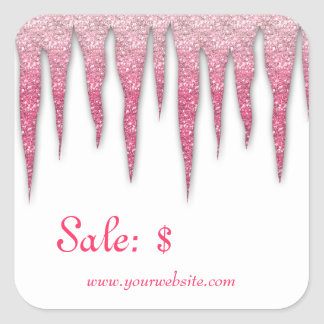 Christmas Sticker Price Tag Sale Winter Icicles P