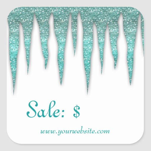 Christmas Sticker Price Tag Sale Winter Icicles T