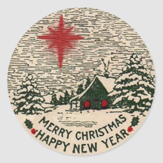 Christmas Sticker, Vintage 1911 Christmas Seal