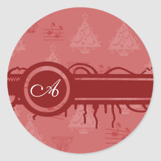 Christmas sticker with mono gram