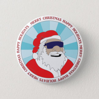 CHRISTMAS STICKERS, BUTTONS, ETC #1 6 CM ROUND BADGE