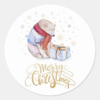 Christmas stickers  Cute Bear
