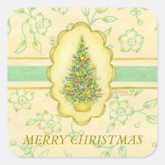 Christmas Stickers Elegant Tree