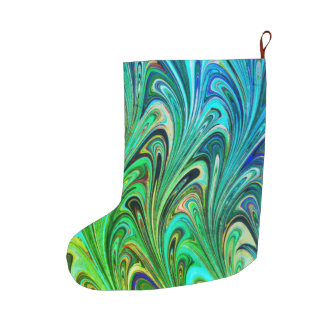 Christmas stocking art abstract colorful pretty