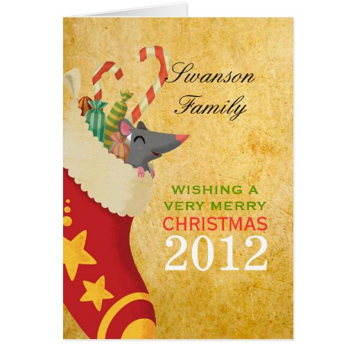 Christmas Stocking Greeting Cards
