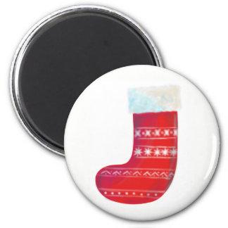 christmas stocking fridge noticeboard magnet