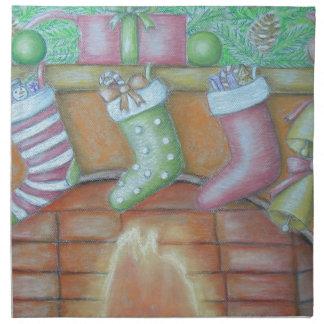 Christmas stocking napkin