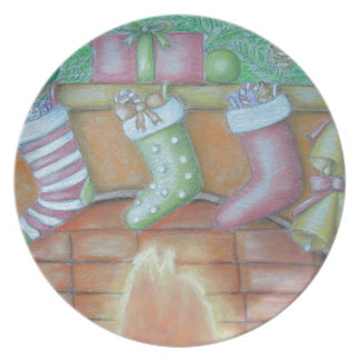 Christmas stocking plate