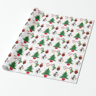 Christmas Stocking & Tree -  Wrapping Paper
