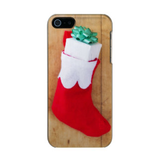 Christmas stocking with small gift incipio feather® shine iPhone 5 case