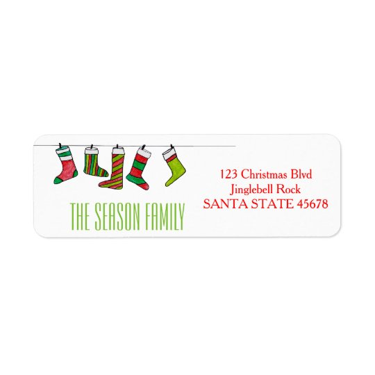 Christmas stockings address label