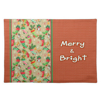 Christmas Stockings and Toys Placemat