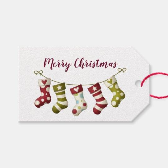 Christmas Stockings Gift Tags
