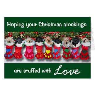 Christmas Stockings Gratitude Litter Card