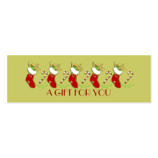 Christmas Stockings Holiday Gift Tag Business Card Template