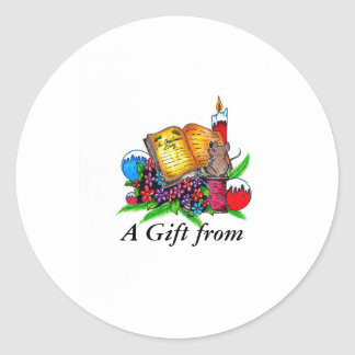 Christmas Story Gift Tag Round Sticker