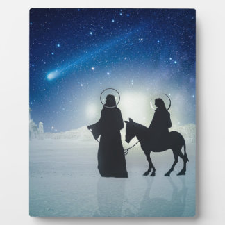 Christmas story Mary and Jesus Plaque