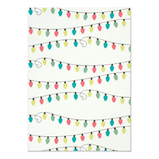 Christmas String of Lights Pattern 13 Cm X 18 Cm Invitation Card