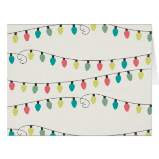 Christmas String of Lights Pattern Big Greeting Card
