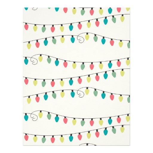 Christmas String of Lights Pattern Custom Flyer