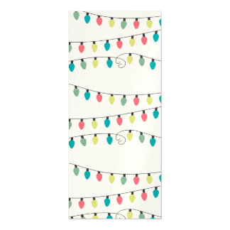 Christmas String of Lights Pattern Magnetic Invitations