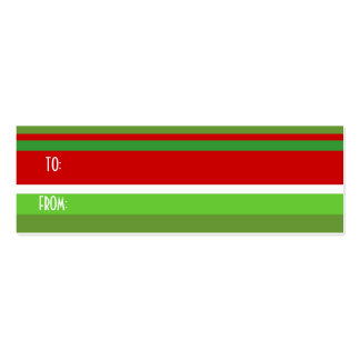 christmas stripe,gift tag business cards