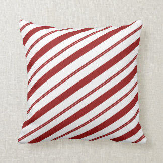 Christmas Striped Candy Cane Cute Holiday Decor Cushion