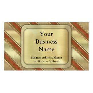 Christmas Stripes Business Card Templates