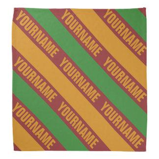 Christmas Stripes custom bandana