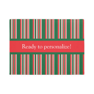 Christmas Stripes Doormat