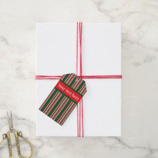 Christmas Stripes Gift Tags