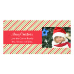 Christmas Stripes Holiday Photo Card