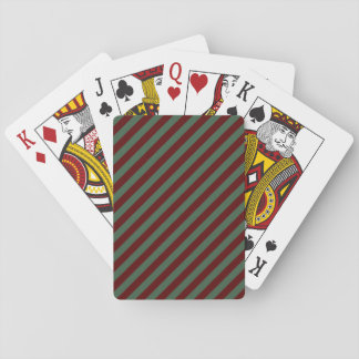 Christmas Stripes Playing Cards