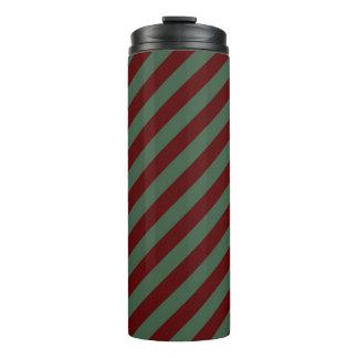 Christmas Stripes Thermal Tumbler