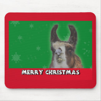 Christmas Stud Llama Happy New Year Mouse Pad