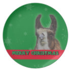 Christmas Stud Llama Happy New Year Plate