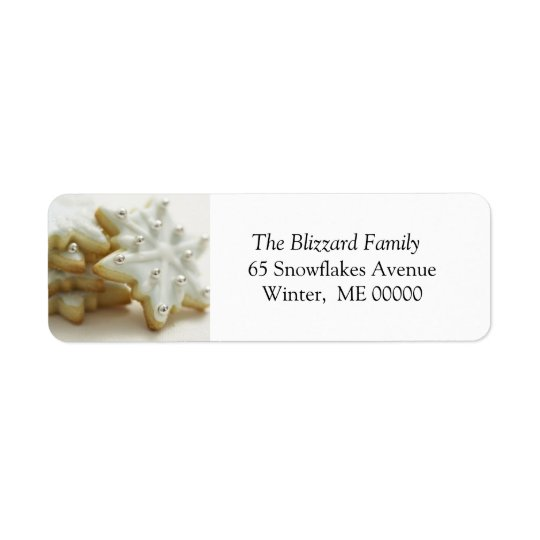 Christmas Sugar Cookies Holiday Address Sticker