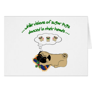 Christmas Sugar Pug Card