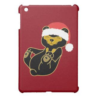 Christmas Sun Bear with Red Santa Hat Case For The iPad Mini