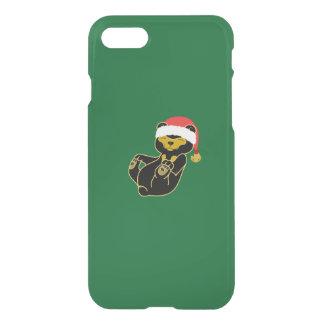 Christmas Sun Bear with Santa Hat & Jingle Bell iPhone 7 Case