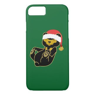 Christmas Sun Bear with Santa Hat & Jingle Bell iPhone 7 Case