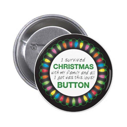 Christmas Survival Button
