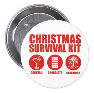 Christmas Survival Kit - Cocktail 7.5 Cm Round Badge