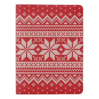 Christmas Sweater Knitting Pattern - RED Extra Large Moleskine Notebook