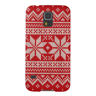 Christmas Sweater Knitting Pattern - RED Galaxy S5 Covers