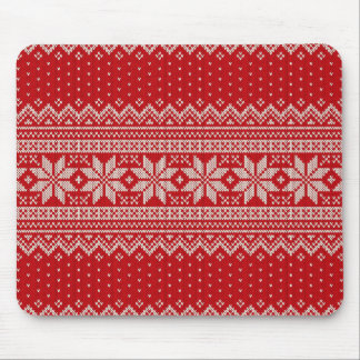 Christmas Sweater Knitting Pattern - RED Mouse Pad