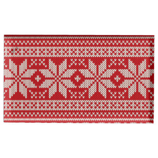 Christmas Sweater Knitting Pattern - RED Place Card Holder